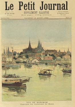 View of Bangkok, from 'Le Petit Journal', 12th August 1893 by Henri Meyer