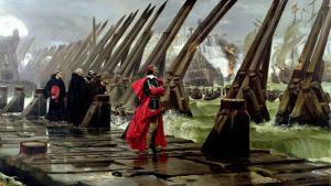 Richelieu (1585-1642) on the Sea Wall at La Rochelle, 1881 by Henri-Paul Motte