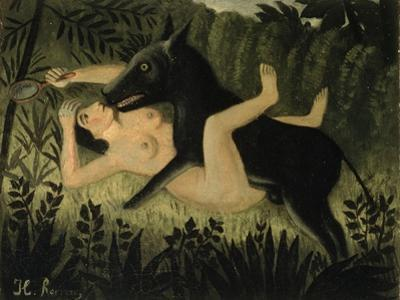 Beauty and the Beast, c.1908 by Henri Rousseau
