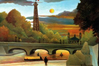 Eiffel Tower at Sunset by Henri Rousseau