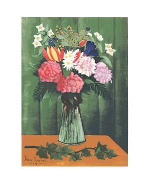 Flowers in Vase by Henri Rousseau