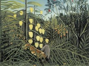 In a Tropical Forest by Henri Rousseau