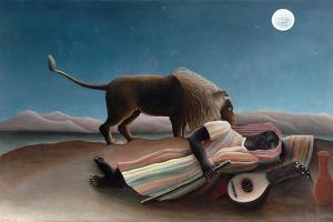 La Bohémienne Endormie(The Sleeping Gypsy) by Henri Rousseau by Henri Rousseau