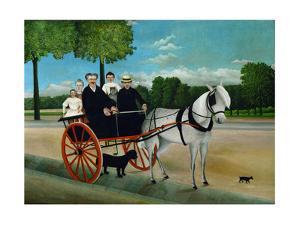 La carriole du Pere Junier, 1908 Canvas, 97 x 129 cm RF 1960-26. by Henri Rousseau