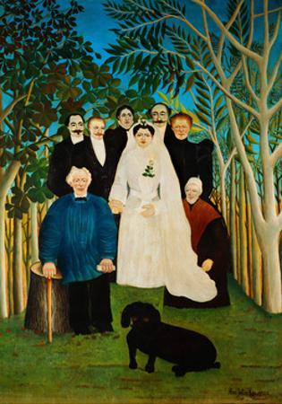La Noce-The Wedding. by Henri Rousseau