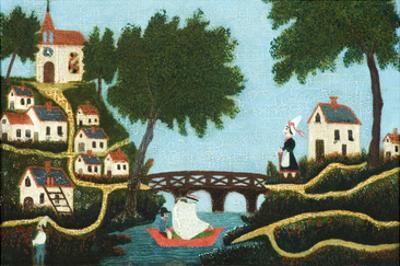 Landscape with Bridge by Henri Rousseau