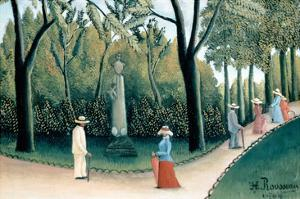 Luxembourg Gardens - Monument to Chopin by Henri Rousseau