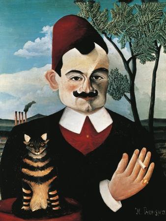 Portrait of French Writer Pierre Loti, Pseudonym of Louis Marie Julien Viaud by Henri Rousseau