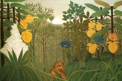 Repast of the Lion by Henri Rousseau