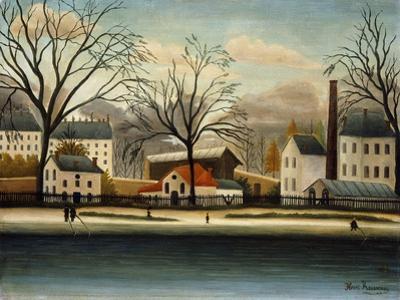 Suburbs; Banlieue, C.1896 by Henri Rousseau