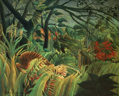 Surprised Storm in the Forest by Henri Rousseau