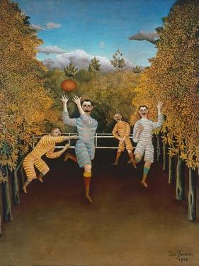 The Football Players, 1908 by Henri Rousseau