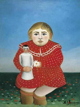 The Girl with a Doll by Henri Rousseau