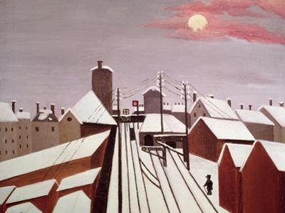 The Railway by Henri Rousseau