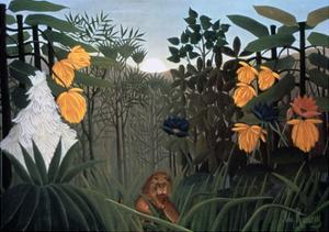 The Repast of the Lion, C1907 by Henri Rousseau