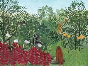 Tropical Forest with Monkeys, 1910 by Henri Rousseau