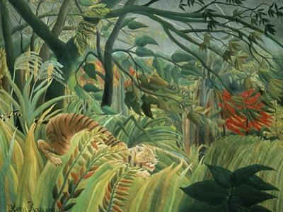Tropical Storm with Tiger, Surprise by Henri Rousseau