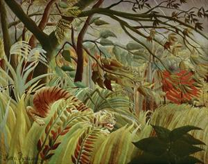 Tropical Storm with Tiger by Henri Rousseau