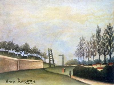 View of the Fortifications to the Left of the Gate of Vanves, 1909 by Henri Rousseau