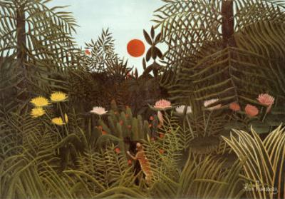 Virgin Forest by Henri Rousseau