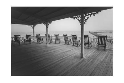 Block Island Rocking Chairs - Eastern Seashore Vacation Rhode Island by Henri Silberman