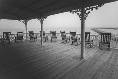 Block Island Rocking Chairs - Eastern Seashore Vacation Rhode Island by Henri Silberman