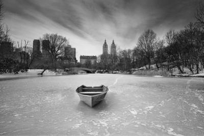 Boat in Ice, Central Park by Henri Silberman