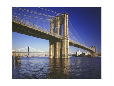 Brooklyn Bridge Afternoon Color by Henri Silberman