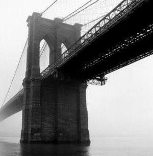 Brooklyn Bridge Fog by Henri Silberman