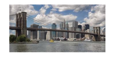 Brooklyn Bridge, New York City, Lower Manhattan by Henri Silberman