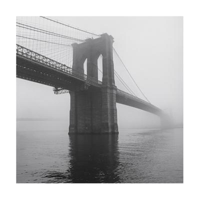 Brooklyn Bridge Tower in Fog by Henri Silberman