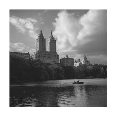 Central Park Lake Rowers Autumn by Henri Silberman