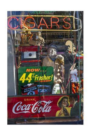 Cigar Store Window, Oakland, CA 2 (Neon Sign) by Henri Silberman