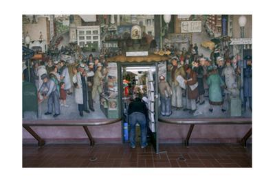 Coit Tower Mural and Gift Shop (San Francisco, CA Landmark) by Henri Silberman