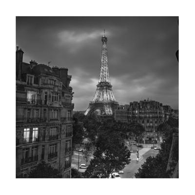 Eiffel Tower Evening by Henri Silberman