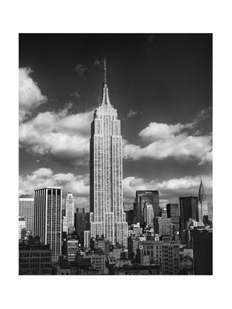Empire State Afternoon Clouds by Henri Silberman