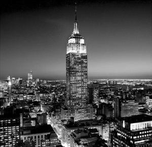 Empire State Building at Night by Henri Silberman