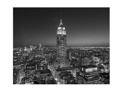 Empire State Building, East View - New York City at Night by Henri Silberman