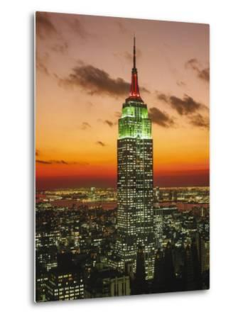 Empire State Building Sunset - New York City Iconic Landmark Building