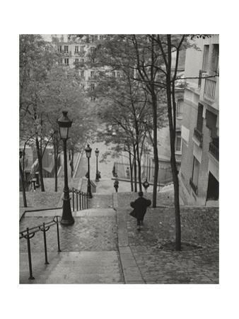 Escaliers a Montmartre, Paris by Henri Silberman