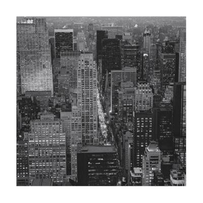Fifth Avenue, North View, Evening - New York City Top View by Henri Silberman