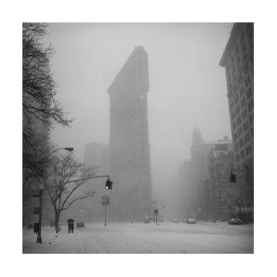 Flat Iron Building, Blizzard - New York City Iconic Building by Henri Silberman
