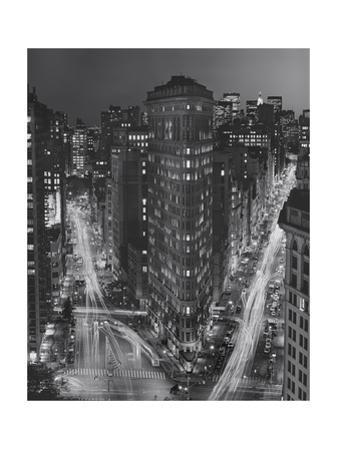 Flatiron Building, New York City at Night 3