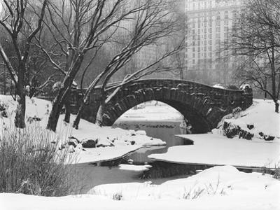 Gapstow Bridge, Central Park, Ny in Snow by Henri Silberman