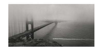 Golden Gate Bridge Fog Panorama