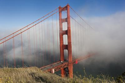Golden Gate Bridge Tower in Fog 10 by Henri Silberman
