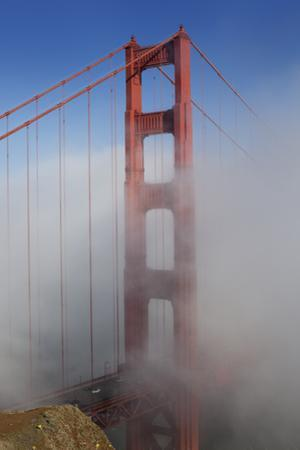 Golden Gate Bridge Tower in Fog 1 by Henri Silberman