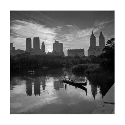 Gondolier Central Park at Dusk by Henri Silberman