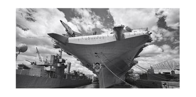 Intrepid Aircraft Carrier Panorama NYC by Henri Silberman