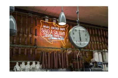 Katz's Deli Salamis with Scale (New York Landmark Eatery) by Henri Silberman